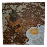 Ubrousek čaj - šálek kávy