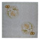 Ubrousek svatební - svatební bílá růže