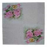 Ubrousek svatební - svatební růžová růže