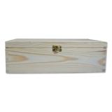Dřevěná krabička se zámkem 04