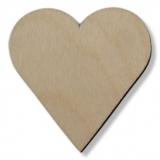 Předměty překližka - srdce 55 mm
