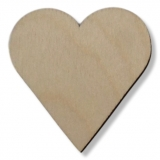 Předměty překližka - srdce 50 mm