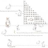 Papír na scrapbooking - velikonoční zajíčci