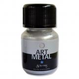 Metalická barva - stříbrná 30 ml