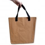 Nákupní taška - světle hnědá 35x38 cm