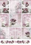Rýžový papír na decoupage - ledové květy