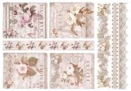 Rýžový papír na decoupage - symfonie květin