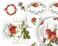 Rýžový papír na decoupage - růže