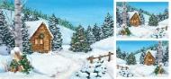 Rýžový papír na decoupage - krajina pod sněhem