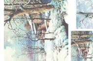 Rýžový papír na decoupage - zimní les