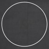 Drátěný kruh na lapač snů bílý - průměr 50 cm