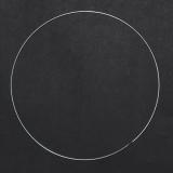 Drátěný kruh na lapač snů stříbrný - 19 cm