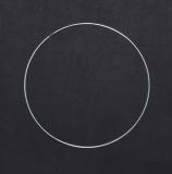 Drátěný kruh na lapač snů stříbrný - 16 cm
