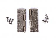 Kovové panty bronz - sada 2 ks