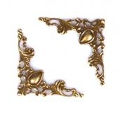 Ozdobné kovové rožky - bronzové