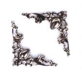 Ozdobné kovové rožky - stříbrné
