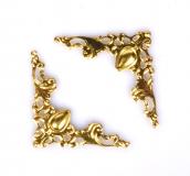 Ozdobné kovové rožky - zlaté