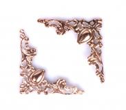 Ozdobné kovové rožky - růžovozlaté