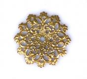 Kovový ornament kulatý - bronz