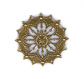 Kovový ornament kulatý 2 - bronz