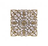 Kovový ornament čtverec - bronz