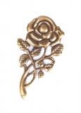 Kovová růže - bronz