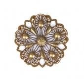 Kovový ornament kulatý 3 - bronz