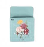 Papírové samolepky květiny - 42 ks