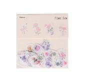 Papírové samolepky  květiny mix - 40 ks