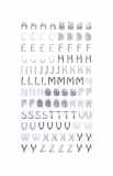 Samolepky abeceda - stříbrná oblá