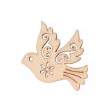 Dřevěná dekorace holubička