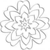 Vyřezávací šablona - 3D květina