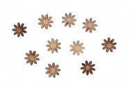 Dřevěná dekorace kytičky 10 mm
