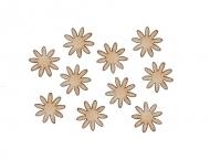Dřevěná dekorace kytičky 15 mm