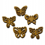 Dřevěná dekorace motýli - mix 03