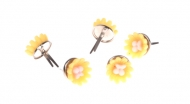 Hřebíčky na scrapbooking - žluté kytičky 06