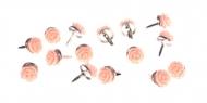 Hřebíčky na scrapbooking - lososové růžičky