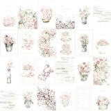 Papír na scrapbooking - kartičky s růžemi