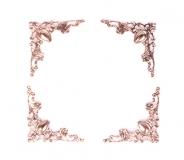 Ozdobné kovové rožky - růžovozlaté, sada