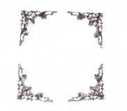 Ozdobné kovové rožky - stříbrné, sada