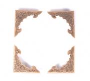 Kovové rožky na scrapbooking - velké, bronzové 4 ks