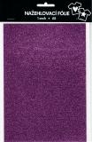 Nažehlovací fólie s glitry A5 - lavender