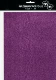 Nažehlovací fólie s glittry A4 - lavender