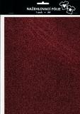 Nažehlovací fólie s glittry A4 - burgundy