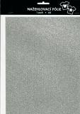 Nažehlovací fólie s glittry A4 - silver