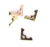 Kovové rožky na scrapbooking - zlaté č.3