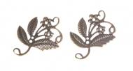 Kovový ornament - kytka