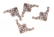 Ozdobné kovové rožky - bronzové, sada