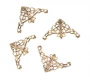 Ozdobné kovové rožky - zlaté, sada