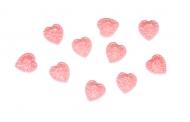 Nalepovací kamínky - růžová srdíčka 10 ks